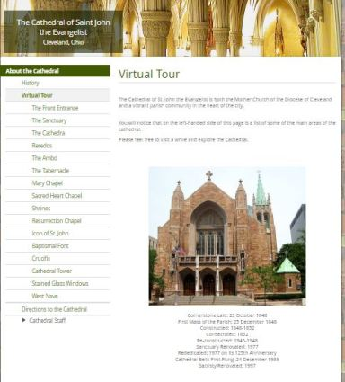 Cathedral of St John the Evangelist Virtual Tour Clevand Ohio Catholic Pilgrimage Sites.JPG
