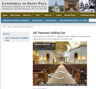 Cathedral of St Paul National Shrine of St Paul the Apostle Virtual Tour Catholic Pilgrimage Sites