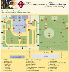 Franciscan Monastery Holy Land in America Virtual Tour