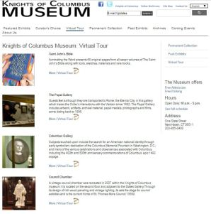 Knights of Columbus Museum Virtual Tour