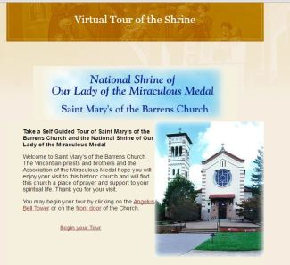 National Shrine of the Miraculous Medal Perryville Missouri Virtual Tour Catholic Pilgrimage Sites