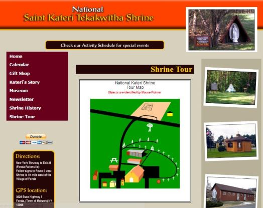 National St Kateri Shrine Fonda New York Virtual Tour Catholic Pilgrimage Sites