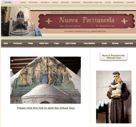 Porziuncola Shrine National Shrine of St Francis of Assisi San Francisco CA Catholi Pilgrimage sites