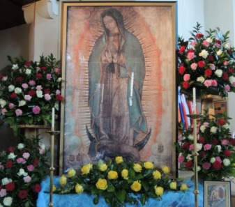 Miraculous Relic Image of Our Lady of Guadalupe on Tour in England