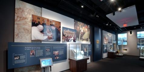 Saint John Paul II Shrine Exhibit on Life of the Pope