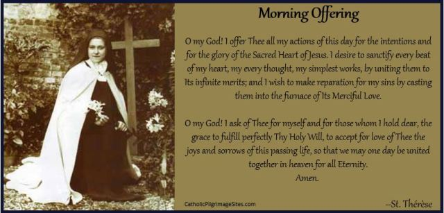 St Therese Morning Offering Catholic Pilgrimage Sites
