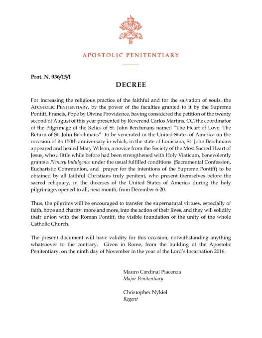 berchmans-plenary-indulgence-decree