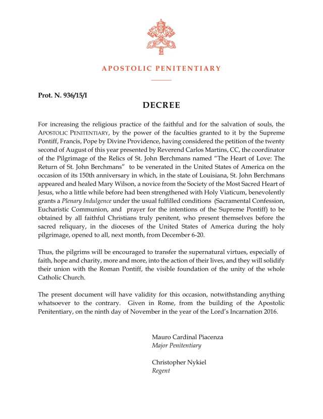 berchmans-plenary-indulgence-decree